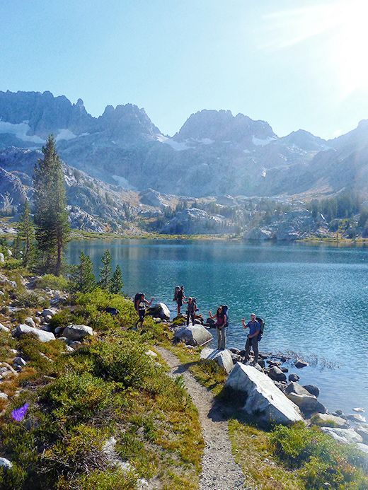 Backpacking to Ediza Lake  ..We stood right in this same spot for our pictures..how cool !! I loved this trip and this hike!