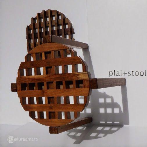 plai+ (: plait) stool, knock down, reutilized Teak wood, work of 2013. https://plus.google.com/+AluraamaraPlus