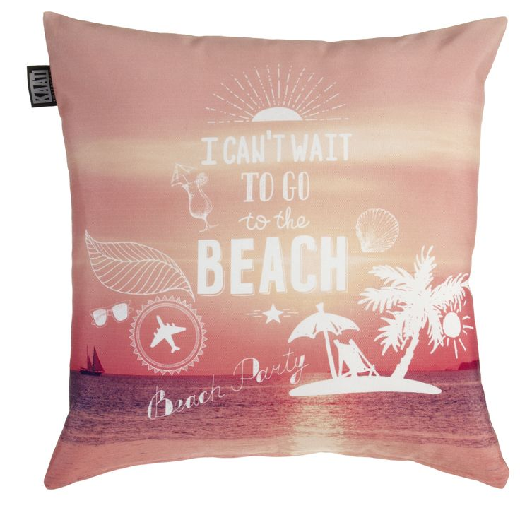 Kussen KAAT Beach Party Coral - NIEUWE COLLECTIE | Cushion KAAT | http://www.livengo.nl/beddengoed/sierkussens/kaat-amsterdam-beach-party-sierkussen-koraal | #sierkussens #decoratie #strand #koraal #livengo