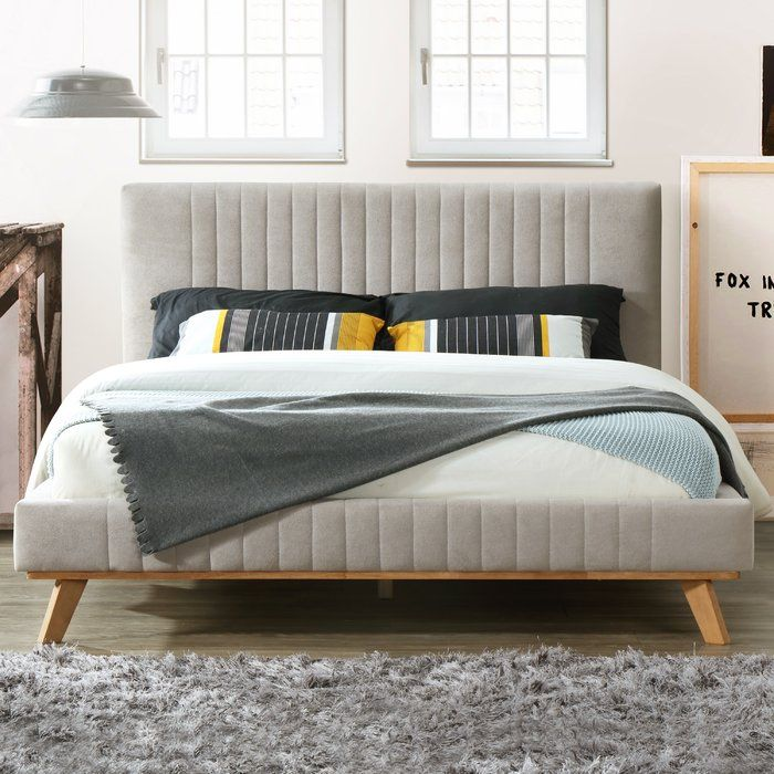 Kimble Queen Upholstered Platform Bed In 2020 Upholstered Platform Bed Platform Bed Furniture
