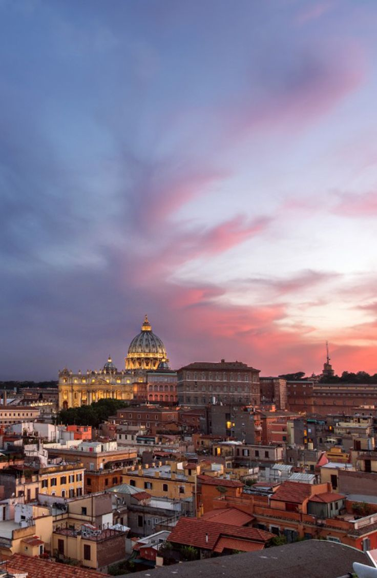 Roma In Un Magnifico Tramonto Rom Vatikan Reisen