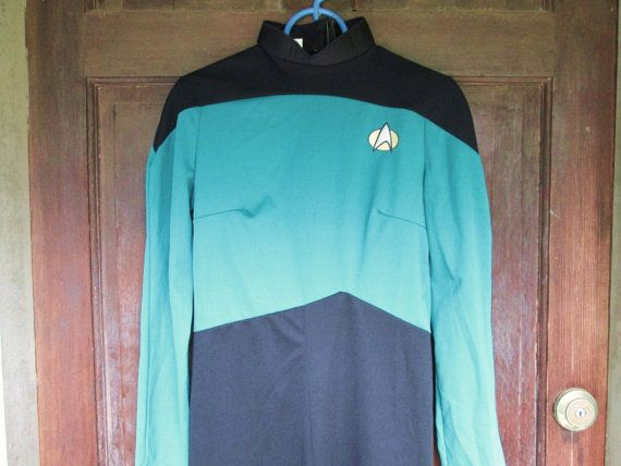 Star Trek Halloween Costume Vintage Paramount Movies Star Trek Jumpsuit Dr Spock Nerd Halloween Costume Adult Women's Geek Techie $35