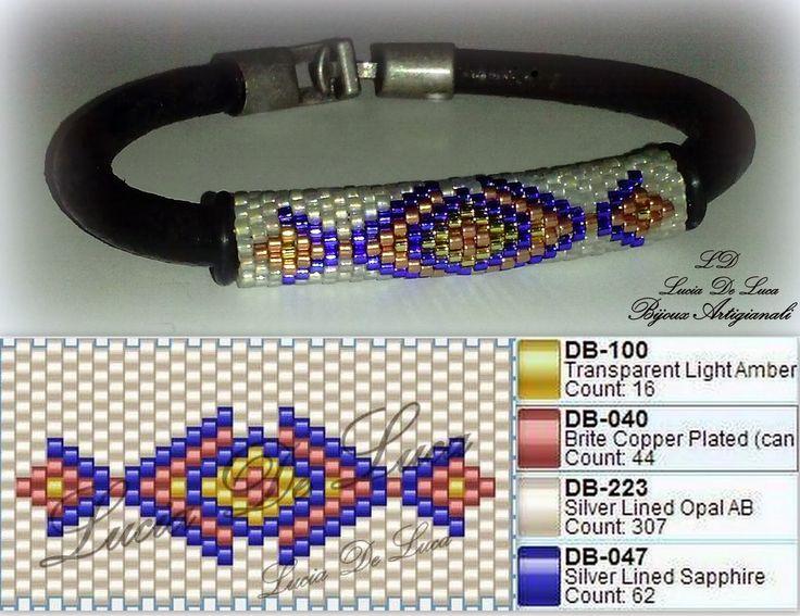 schema bracciale DB0047 Silver Lined Sapphire Miyuki Seed Beads Tube Item: SB00151