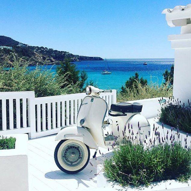Saying goodbye to this view ✌🏼️ #ibiza #amazing #holiday #cottonbeachclub #bike #lavender #view #bluesky #summer #boutique #travel #explore #clothes #beachwear #bikini #top #dress #accessories #boho #chic #summer #love #follow #fashionblogger #online @everydaysugar