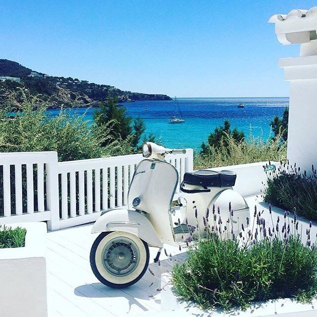 Saying goodbye to this view ✌🏼️ #ibiza #amazing #holiday #cottonbeachclub #bike #lavender #view #bluesky #summer #boutique #travel #explore #clothes #beachwear #bikini #top #dress #accessories #boho #chic #summer #love #follow #fashionblogger #online @everydaysugar