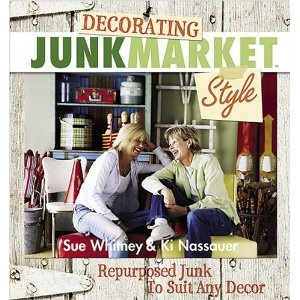 decorating book with junk market style