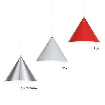 アルミニウム・グレー・レッドの3色展開 個性的なデザインと、カラーはお部屋のアクセントとして目をひきます! ひとつだけでなく、合わせ付けしても素敵ですね♪