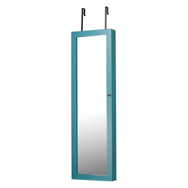 InnerSpace Mirror Jewelry Armoire, Turquoise/Blue (Turq/Aqua)