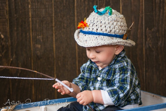 43 best cutest crochet baby hats ever from for Toddler fishing hat