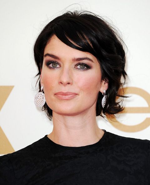 Lena Headey grown out pixie look