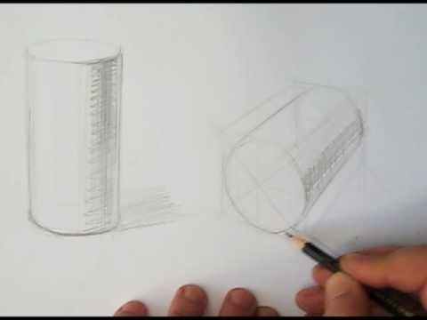 how to draw measuring cylinder used for