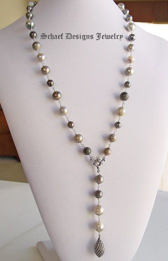 handmade pearl jewelry designs | ... Designs upscale artisan handcrafted designer tahitian pearl, diamond
