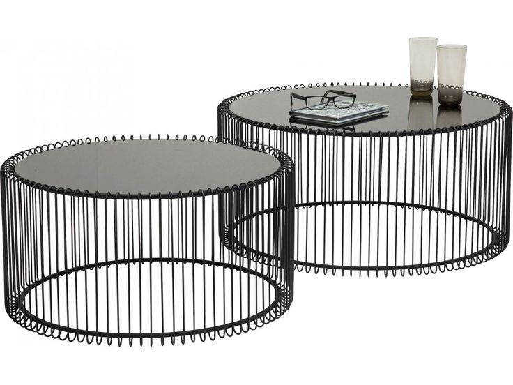 Stolik Kawowy Wire I (2/Set) — Ławy, Stoliki kawowe Kare Design — sfmeble.pl