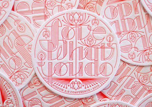 """Love what you do"" letterpress coaster by Llinda Eliasen."