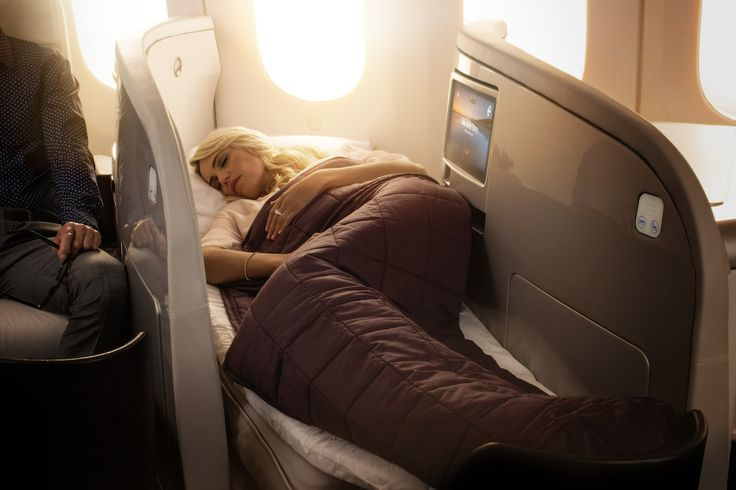 Boeing 787-9 Business Premier Lie Flat Bed. For more information on Air New Zealand's new Boeing 787-9 visit http://www.airnewzealand.co.nz/futuretakingflight  #AirNZ #787-9 #AirNewZealand #NewZealand