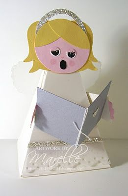 Stampin' Up!  Petal Cone  Marelle Taylor  Angel