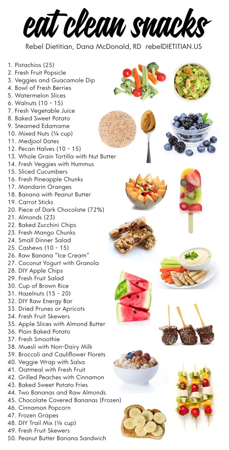 50 Eat Clean Snacks [Vegan] | rebelDIETITIAN.US