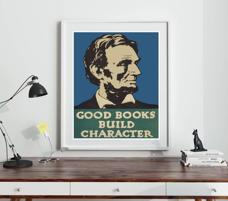 Reading Wall Art Reading Print Literary Poster Literary Print Library Print School Wall Art Library Art Abraham Lincoln Poster Print by WallBuddy on Etsy