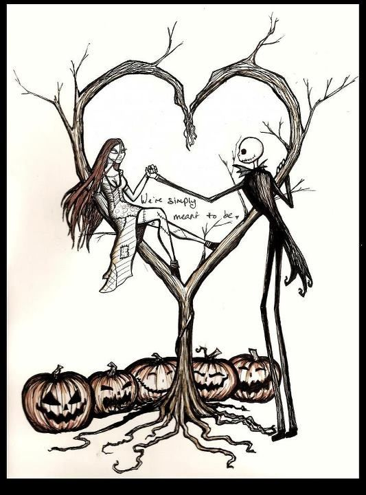 jack and sally hill tattoo - Google Search