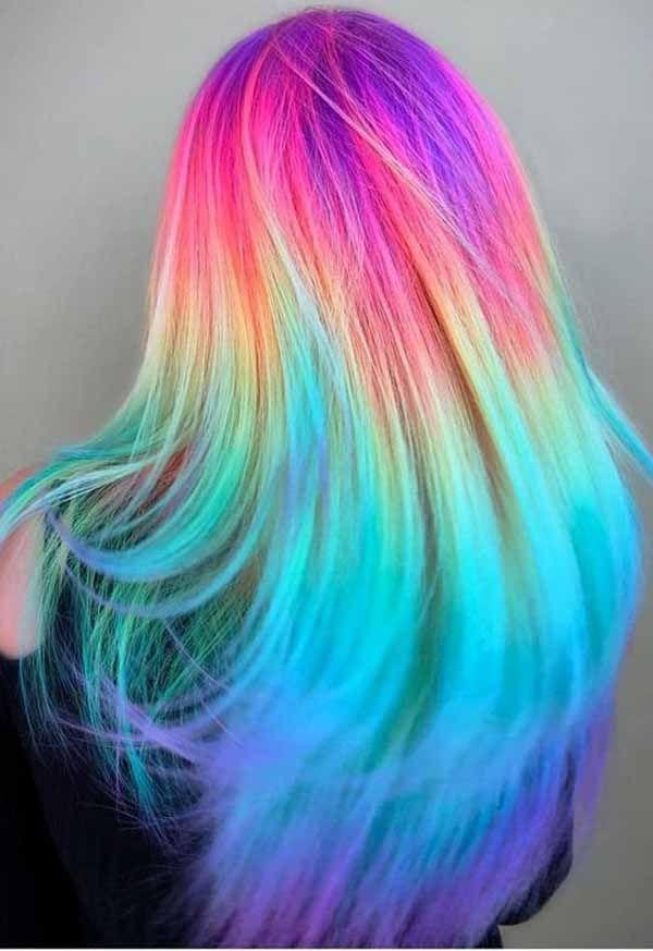 7 Crazy Rainbow Christmas Hair Colors Ideas For Trendy Girls Hair Styles Rainbow Hair Color Hair Color Unique