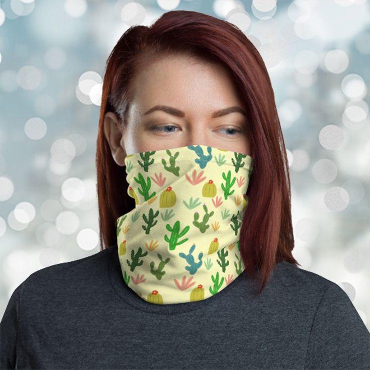 Diy Mask Discover cactus Neck Gaiter Washable Face Mask