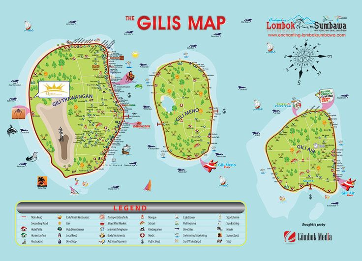 Gili Islands Indonesia *They're so dirty & full of drunk tourists.
