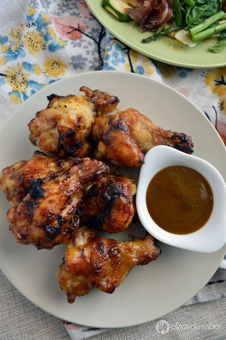 Alitas a la mostaza con salsa casera de 4 ingredientes www.pizcadesabor.com