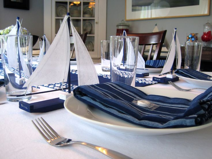 Putting Together A Little Nautical Party. Party Table DecorationsParty ...
