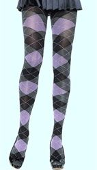 Heather Cotton Argyle Tights-but not with a skirt this short!