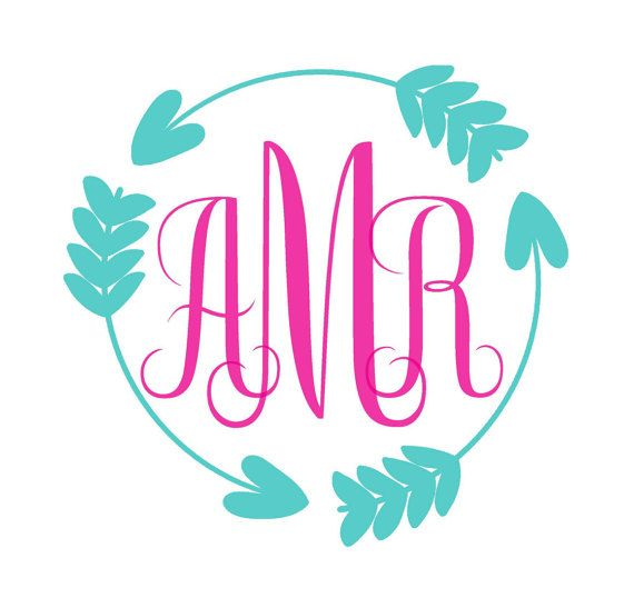 personalized iron on circle arrow monogram by lizzieclaireshop