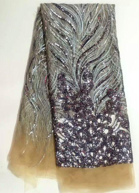 Высокое качество Африки Чистая кружева со Стразами Мода африканский свадьба тюль платье заводской гарантии текстильной кружевной ткани NA490B-1