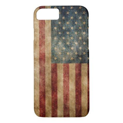 #Vintage American Flag OtterBox iPhone 8/7 Case - #birthday #gifts #giftideas #present #party
