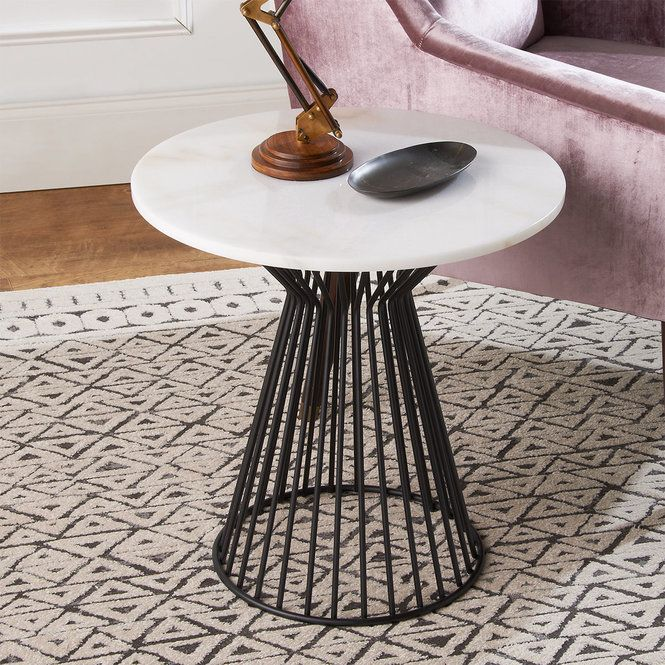 Hourglass Cage End Table Marble Top End Tables Marble Tables Living Room Marble Tables Design