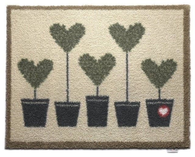 Lovely Shrubs Topiary Eco-Friendly Doormat transitional-doormats