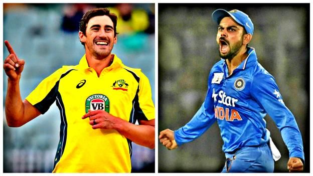 Virat Kohli, Mitchell Starc and MS Dhoni     ICC Champions Trophy 2017     Venues: The Oval, Edgbaston, Cardiff. Dates: 1-18 June   Coverage: Highlights every evening on BBC Two, ball-by-ball Test Match Special commentary on BBC Radio 5 live sports extra; in-play highlights and text commentary...