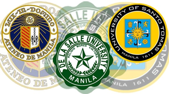 Ateneo De Manila, De La Salle, University of Santo Tomas One of Manila's Best Universities.