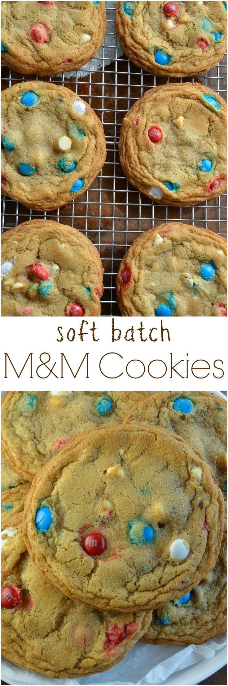 Soft Chocolate Chip Cookies Recipe with M&M's and white chocolate chips. These soft batch cookies are moist, chewy and loaded with Red White and Blue M&M's! #pressnsealhacks #Pmedia #ad @gladproducts @walmart