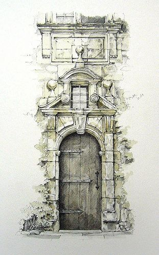 Awesome travel sketches - Grezels, Lot, France
