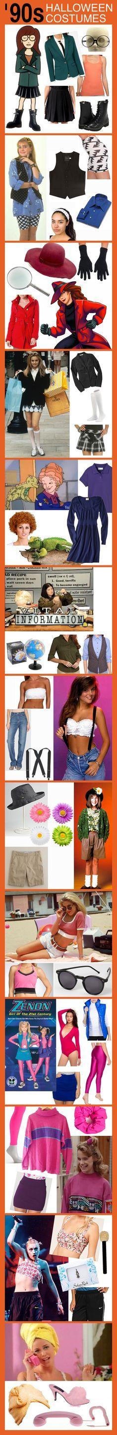 Sei ein Mädchen der 90er Jahre in einer Welt der 90er Jahre dieses Halloween