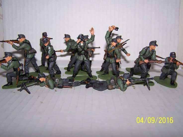 AIRFIX 1 32 SCALE GERMAN INFANTRY X 14 PAINTED