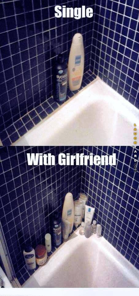 Single vs with girlfriend #lol #laughtard #lmao #funnypics #funnypictures…
