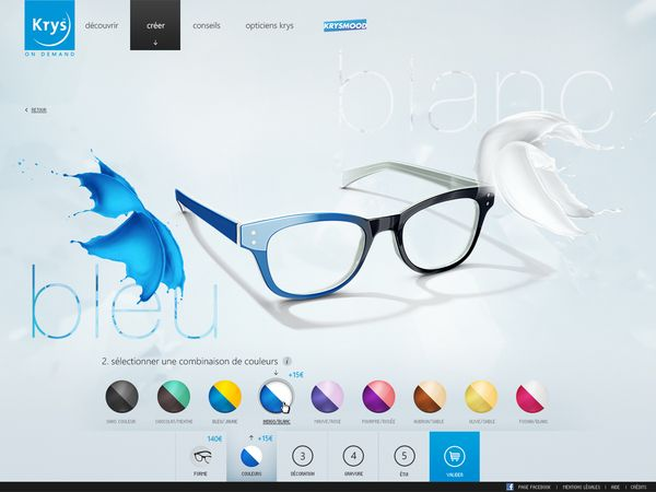 Krys Configurator on Web Design Served
