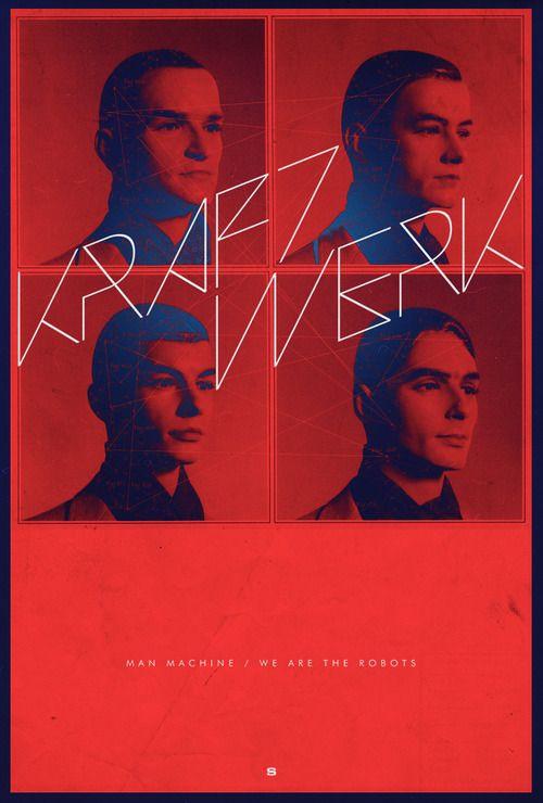 Kraftwerk Poster by Rolando M Soberon