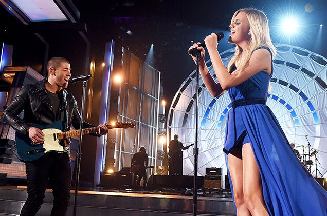 "Kelsea Ballerini and Nick Jonas joined forces for an unlikely collaboration at Sunday's ACMs (April 3) -- after Ballerini performed her breakout hit ""Love Me Like You Mean It,"" she broke into new single ""Peter Pan."" Midway through, she was joined by Jonas on guitar (!), who eventually chimed in with background vocals for the last chorus."