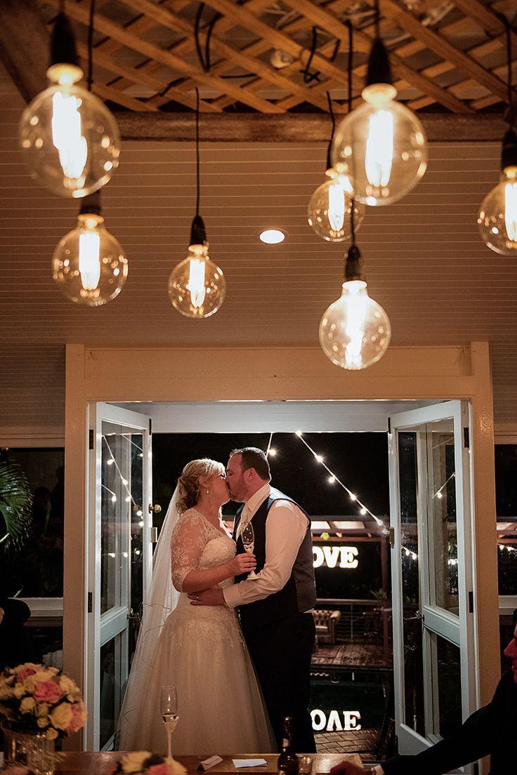 Mr and Mrs smoochy kisses,  Pic Richard Windeyer. Byron Bay Wedding Celebrant.