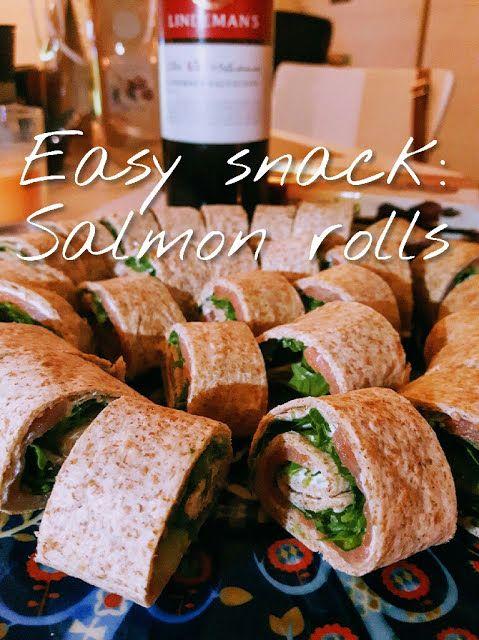 Easy snack: Salmon rolls