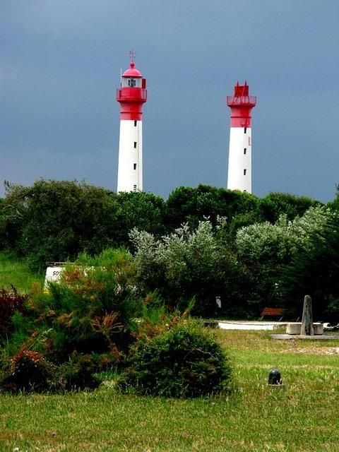 Isle d'Aix Twin Lighthouses. I want to go see this place one day. Please check out my website thanks. www.photopix.co.nz