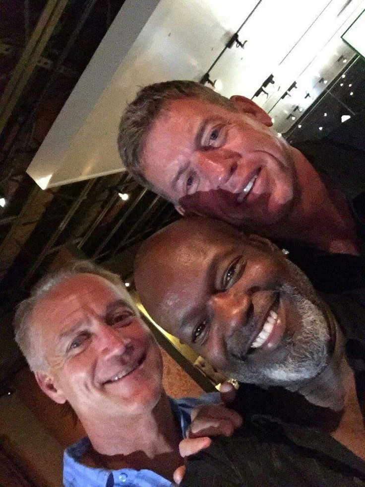 Troy Aikman Darrell Johnston and Emmit Smith