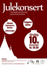 Plakat julekonsert 2013. Christmas concert poster. Illustrations. Graphic design. Christmas decorations.