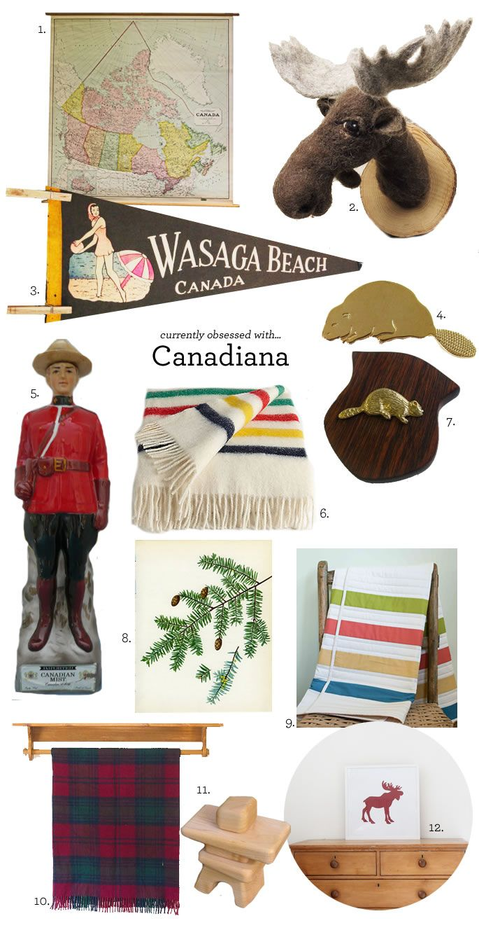 My grandpa was from Canada, so i guess that makes me 1/4 Canadian, eh?! Will would love everything on this pin! canadiana / vintage finds on etsy